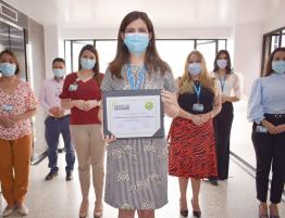 Grupo líder responsable de la recertificación en BPM en producción de Aire Medicinal.